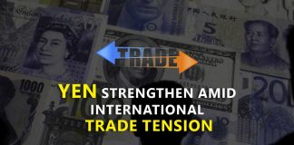 Yen strengthen amid international trade tension and US interest rate cut