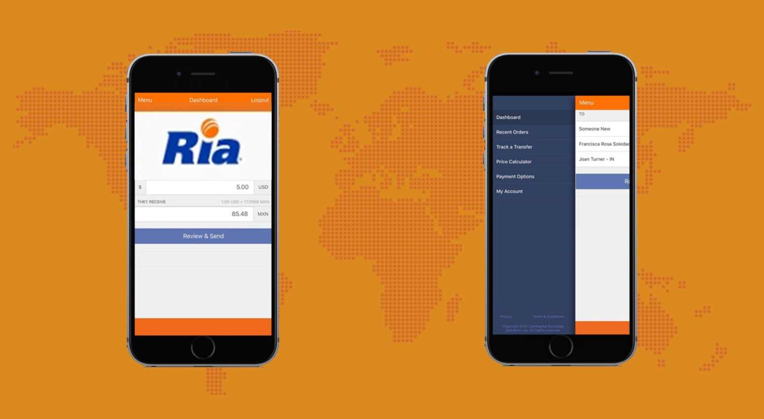 Ria Money Transfer App
