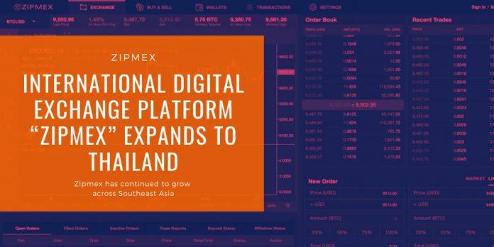"""International Digital Exchange Platform """"Zipmex"""" Expands to Thailand"""