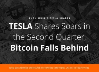 TESLA Shares Soars in the Second Quarter, Bitcoin Falls Behind