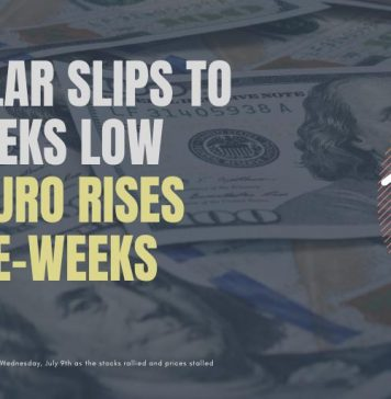 US Dollar Slips To Two-Weeks Low While Euro Rises to Three Weeks High